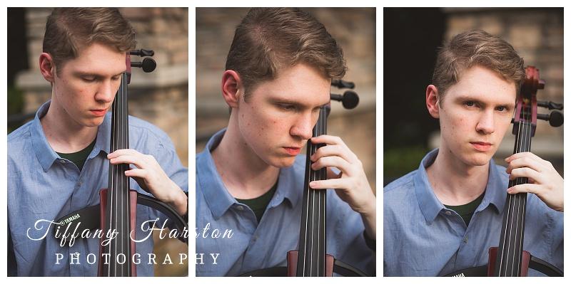 atasocita high school senior photos with cello
