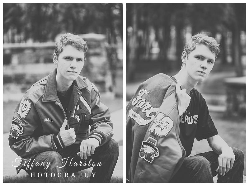 cool atasocita senior posing with letterman jacket