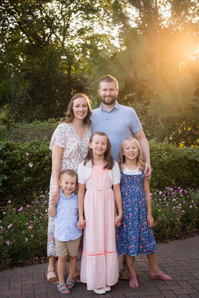 houston family photographer family at mercer garden