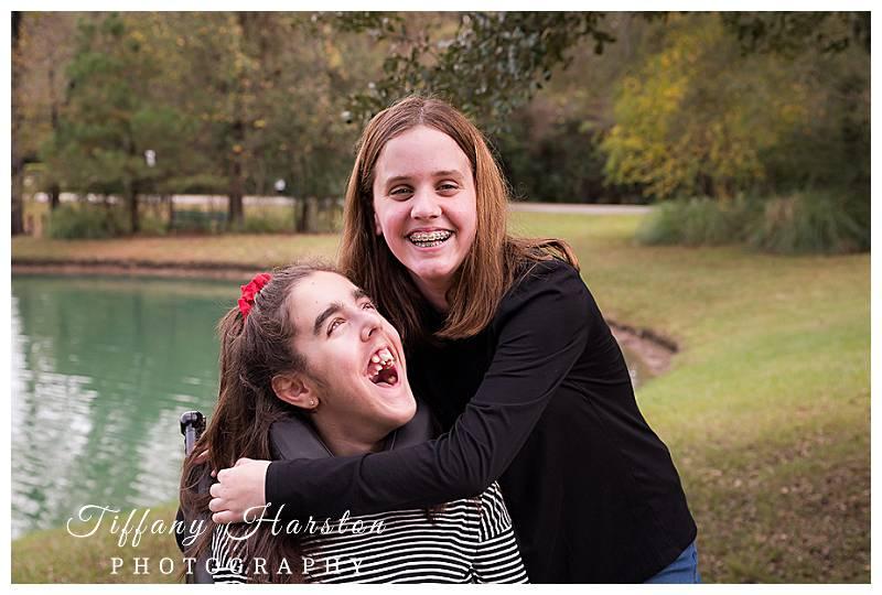 houston special needs family photos in kingwood