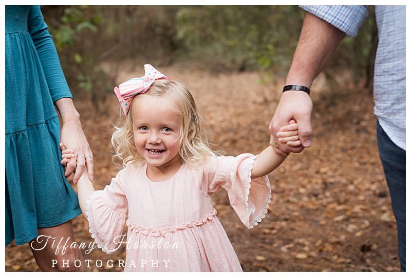 kingwood family wearing pink dress