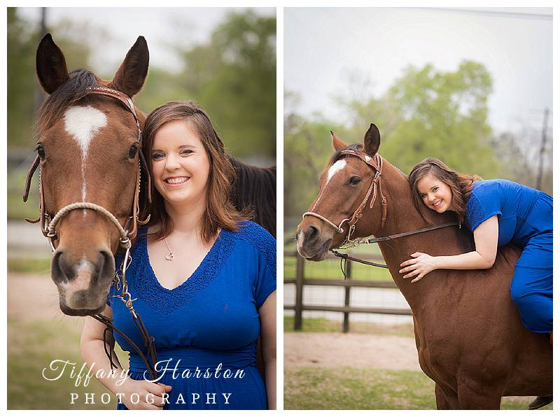 kingwood senior pictures taken with horse